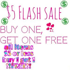 ⚡$5 BOGO⚡sale on items $5 or less!